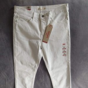 Levi's 314 Shaping Straight White Jeans size 14